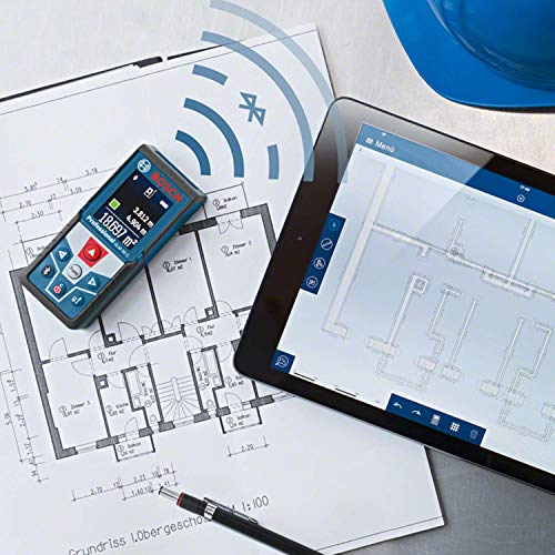 Bosch Professional Distanziometro laser GLM 50 C (trasferimento dati Bluetooth, sensore di inclinazione a 360°, misurazione: 0,05 – 50 m, 2 pile a stilo da 1,5 V, custodia protettiva)