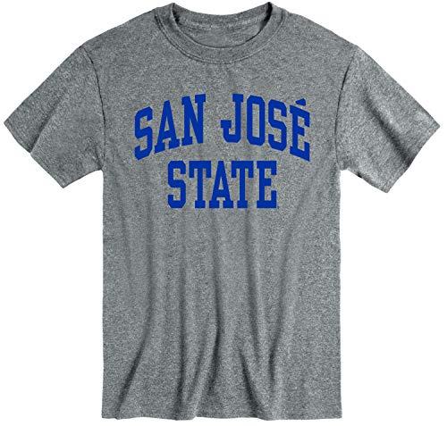 Ivysport San Jose State University SJSU Spartans Short Sleeve Adult Unisex T-Shirt, Classic, Charcoal Grey, Small