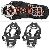 FOLOSAFENAR Crampons Shoe Grip Spike Antideslizante Ice Cleat Empuñaduras de Zapatos para Todo Tipo de Calzado Deportivo para Escalar Snow Mountain(M)