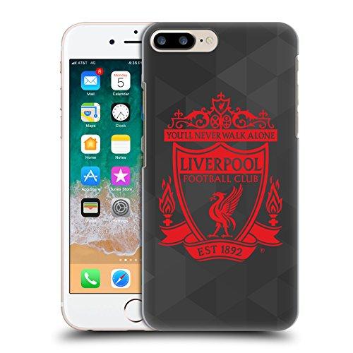 Head Case Designs Oficial Liverpool Football Club Geométrico Negro 2 Cresta 1 Carcasa rígida Compatible con Apple iPhone 7 Plus/iPhone 8 Plus