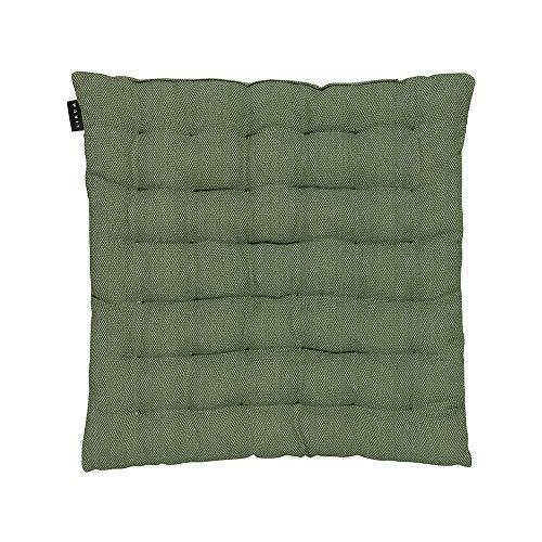 LINUM Pepper Elegantes Sitzkissen für die Stuhl Garten Küche 40cm x 40cm, 100% Baumwolle, Maschinenwaschbar, Dunkel Olivgrün