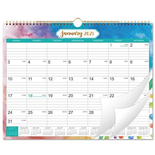 2021 Calendar - 12 Month Wall Calendar with Julian Date, Thick Paper Perfect for Organizing &...