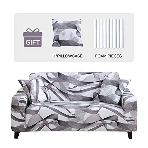 JOYDREAM Stretch-Sesselschonbezüge für 1-Sitzer-Sofa, einfache Passform, Möbelschutz für Sessel, weicher Stoff, mit 1 Kissenbezug (klein, Wasserwellen)