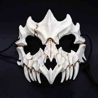 BREEZEY Halloween Dragon God Mask Resin Cosplay Mask Scary Half Face Mask