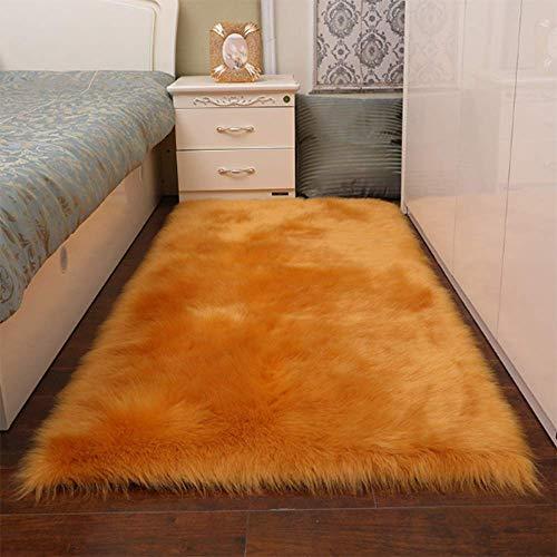 Carpets - Funda para silla de piel de oveja sintética suave y esponjosa para salón, estilo de piel de oveja, S1, 100 x 100 cm