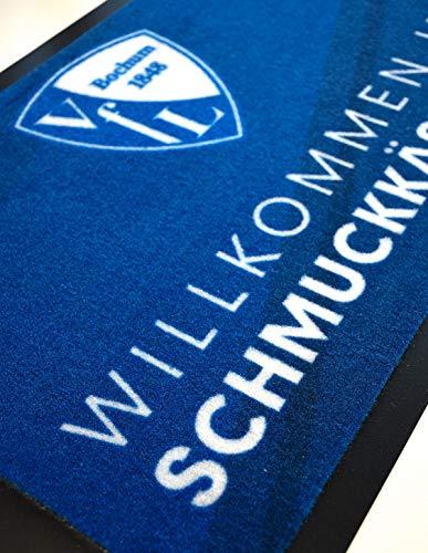 """VfL Bochum 1848 - Felpudo con texto """"Willkommen im Schmuckkästchen Schuhabtreter Türmatte Fanartikel Fútbol Club"""