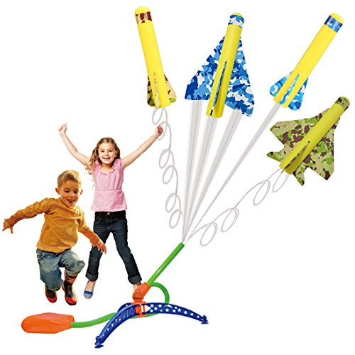 US Sense 4 Pack Kids Step-Powered Glider Stunt Plane Flyer Foam Planes...