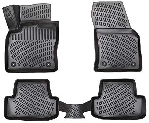 Elmasline Design 3D Gummimatten Set für VW T-ROC Baujahr ab 2018 | Extra hoher 5cm Rand