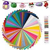 IDEALHOUSE 50 Farben Filzstoff, 20*30cm Bastelfilz Farbig Filz Blätter, Polyester Felt Fabric...