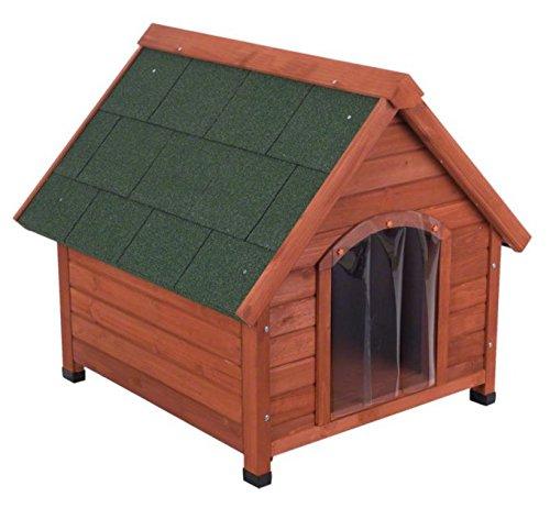 4Seasons de madera de pino–Caseta de perro ideal para perros que vivir fuera TODO EL AÑO y necesidad de protección contra el viento, Sun, la...