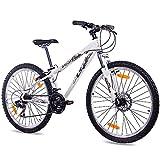 Bicicleta blanca de 26' MTB Dirt Kcp One con 21g Shimano