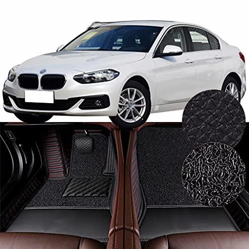 QCYP Alfombrillas para Coches Adecuado para BMW Serie 1 Facelift 118i (función de teléfono/neumático: 225/45 R17 / Control automático de Aire Acondicionado) 2018 Alfombrillas de Auto,LHD