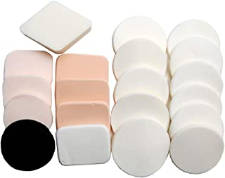 Luxxii (20 Pack) Latex Free Powder Puff Makeup Sponge Blender, Concealer Soft Foundation Sponges