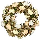 Ghirlanda Decorativa pasquale in Vero Legno
