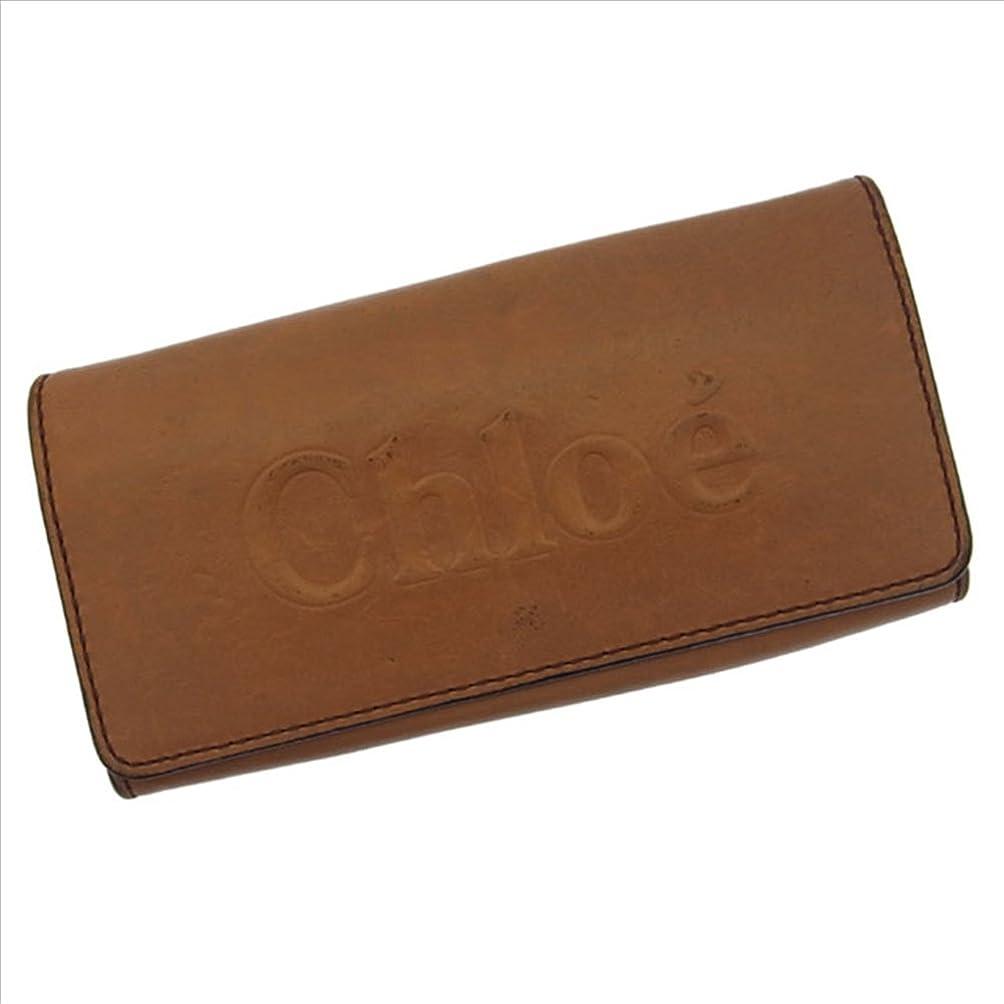 主に誇大妄想例外クロエ Chloe 長財布 ファスナー二つ折り ユニセックス ロゴ 中古 F554