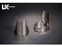 ユーカナヤ アルミビレットフォークガード (リングカラー:チタン) カラー:ガード部:ブラック ZRX400 ZRX400-II