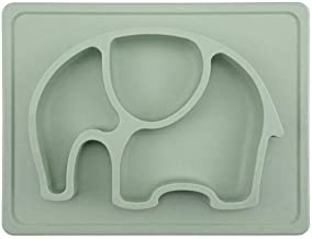 Baby Suction Placemat - SILIVO Non-Slip Silicone Toddler Plates with Suction Cups Fits Most Highchair Trays - 10