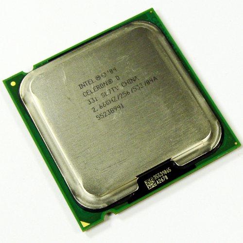 Intel Celeron® D Prozessor 331 (256 K Cache, 2.66 GHz, 533 MHz FSB) 2.667GHz 0.256MB L2 Prozessor – Prozessoren (2.66 GHz, 533 MHz FSB), Intel® Celeron® D, 2,667 GHz, LGA 775 (Socket T), 90 nm, 533 MHz, Intel Celeron D 300 Series)