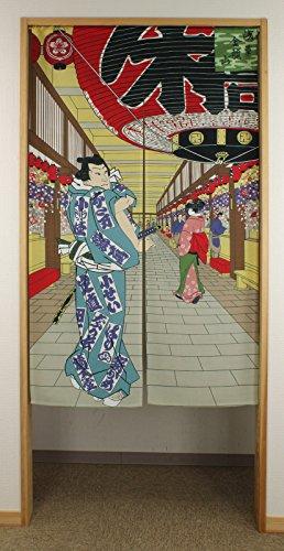 Narumi Cortina Japonesa de Buena voluntad, diseño de ukiyoe Asakusa NarumiKK 14142