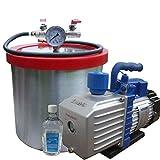 sealavac 12.2l aluminio vacío desgasificación cámara + Heavy Duty Kit de bomba de vacío