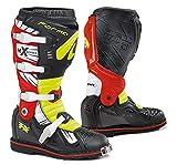Forma FORC35099781042 Bottes Moto Terrain TX Homologuée CE, Noir/Yellow Fluorescent/Rouge, Taille...