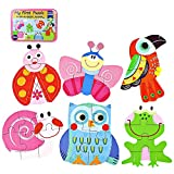 Millya 6 In 1 Kids Cartoon Wooden Jigsaw Puzzle with Storage Box Preschool Early Learning Toy