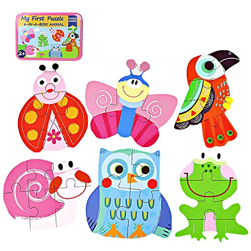 Millya 6 In 1 Kids Cartoon Wooden Jigsaw Puzzle with