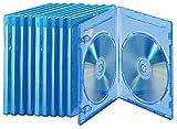 PEARL Leere Blu-ray-Hülle: Blu-ray Soft-Hüllen blau-transparent im 10er-Pack für je 2 Discs (Bluray Hüllen)