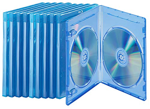 PEARL Bluray Hülle: Blu-ray Soft-Hüllen blau-transparent im 10er-Pack für je 2 Discs (Leere Blu-ray-Hülle)