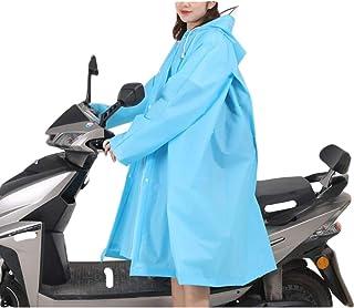 Zhengpingpai Women's Multi-purpose EVA Raincoat Battery Car Undivided Bike Fashion Hiking Boneheaded Poncho Riding Raincoat (Color : Light blue, Size : L)