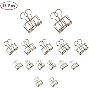 Long Tail Wire Binder Clips for Students Office,Skeleton Binder Clip for Business (Silver):Priorcastleinnvictoria