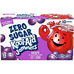Kool-Aid Zero Sugar Jammers Grape Flavored Juice Drink (10 Pouches)