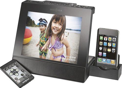 Insignia 8 Digital Photo Frame with Apple iPod Dock - Black