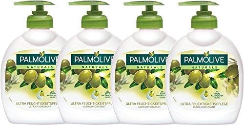 Palmolive - Aceite de oliva Leche Jabón líquido, 300 ml - Lot de 4