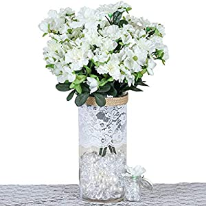 DN_HOM Wonderful 120 pcs Silk Gardenia Flowers for Wedding Centerpieces Arrangements Bouquets (Cream)
