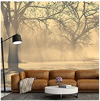 Azutura Misty Trees Wall Mural Wallpaper Available In 8 Sizes Digital Amazon Co Uk Diy Tools