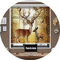 暗号化 ブラインド アンチグレア アルミニウム ベネチアンブラインド ホーム オフィス パンチフリー 簡単な内側と外側のマウント (Color : B, Size : 80x220CM)