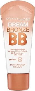 2 x Maybelline Dream Bronze BB 8 in 1 Beauty Balm SPF25 30ml - Medium Deep/Dark