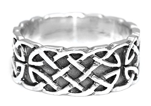 Battle-Merchant Keltischer Ring Unendlichkeit aus Silber Wikingerring Silberring LARP Wikinger Mittelalter Verschiedene Größen (17/54)