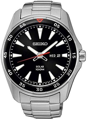 Seiko Reloj Analógico Energía Solar para Hombre con Correa de Acero Inoxidable – SNE393P1