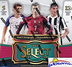 2017/18 Panini Select Soccer HUGE Factory Sealed HOBBY Box with (3) AUTOGRAPH or MEMORABILIA Cards! Look for Auto's & Parallels of Ronaldo, Messi, Pulisic, Pele, Bale & Many More! WOWZZER!