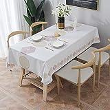 Essort Rectangle Mantel para Mesa PVC Hule Mantel Cuadrado para Comedor, Impermeable y Prueba de Aceite Hexágono 137 x 185 cm