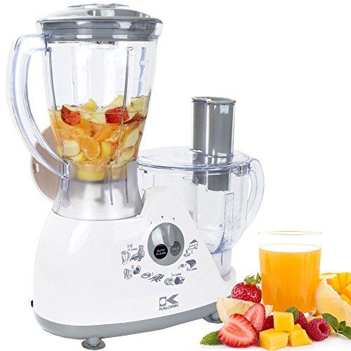 Kalorik Robot de cuisine KA RB 2000 Food Processor Mixeur Blender Jus Presse Hachoir avec de nombreux accessoires hacheur