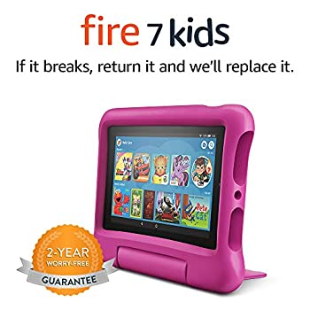 Fire 7 Kids Tablet 7  Display ages 3-7 16 GB Pink Kid-Proof Case
