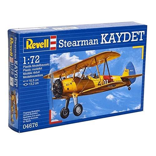 Revell Revell_04676 Modellbausatz Flugzeug 1:72 - Stearman Kaydet im Maßstab 1:72, Level 3, originalgetreue Nachbildung mit vielen Details, 04676