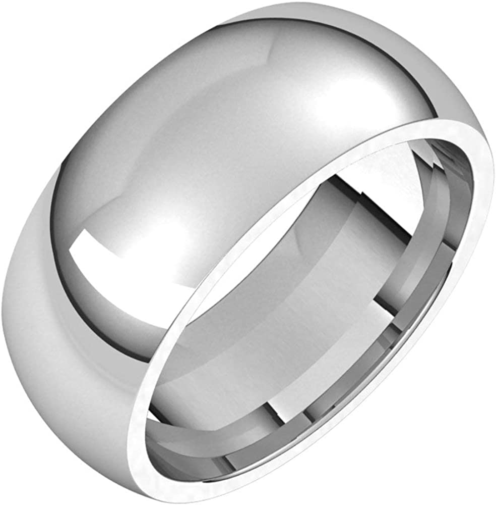 Platinum 8mm Comfort Fit Bridal 10 Ring Size Wedding NEW before selling ☆ Super sale period limited Band