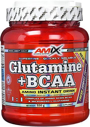Amix Glutamina+Bcaa 530 Gr Frutas Del Bosque 530 g