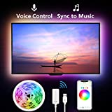 Led Strip Lights for TV, 9.2Ft TV Led Backlight Music Sync for 32-65 inch. Works with Alexa Google Home, Gosund App Remote Control, 16 Million Colors, Brighter 5050 LED, USB Powered, Only 2.4Ghz