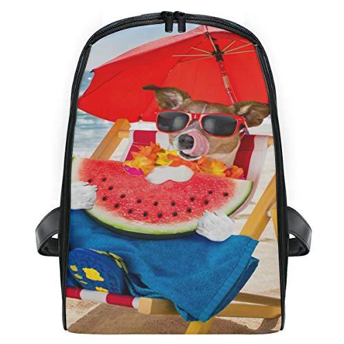 Mini Rugzak Dagtas Leuke Hond Eet Watermeloen Hangmat Rugzak Lichtgewicht voor Meisjes Jongens