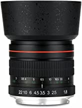Lightdow 85mm F/1.8 Medium Telephoto Portrait Prime Manual Focus Full Frame Lens for Canon EOS Rebel T7, T7i, T6, T6i, T5, T5i, SL2, 80D, 77D, 700D, 70D, 60D, 50D, 5D, 6D, 7D, 600D, 550D, 200D etc